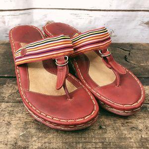 Born Sandals Size 9 Leather Stripe